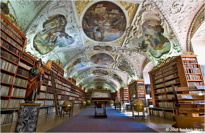The Baroque theological library at Strahov Monastery, Prague