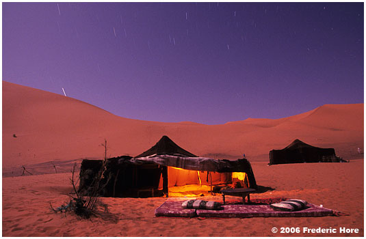 Berber tents at Erg Chebbi