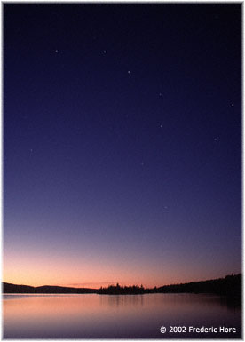 Big Dipper over Lac Des Cypres, Parc Mt Tremblant, QC, Canada